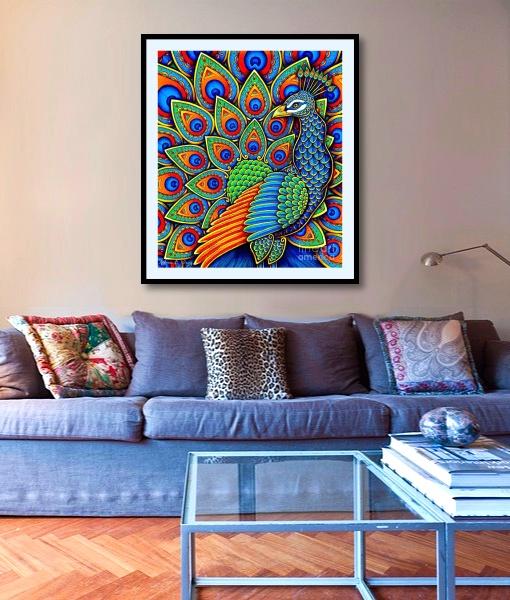 Paisley Peacock -ohmyprints-2 by psychedeliczen