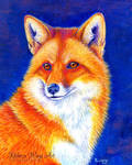 Vibrant Flame - Colorful Red Fox