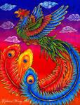 Fenghuang Chinese Phoenix Rainbow Bird