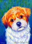 Colorful Pet Portrait - Odie
