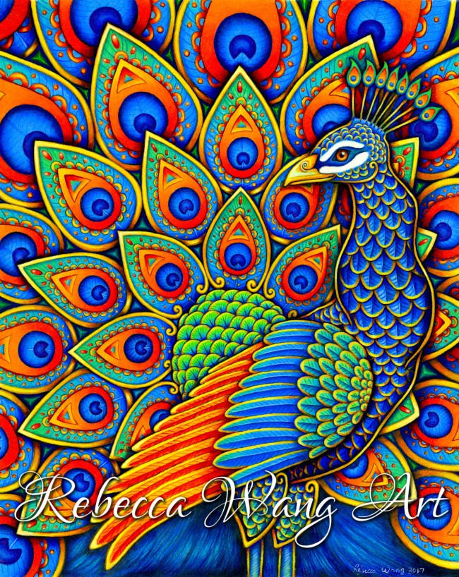 Colorful Paisley Peacock