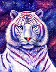 Among the Stars - Colorful Cosmic White Tiger