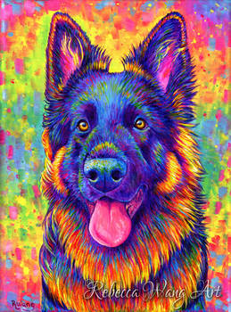 Colorful Pet Portrait - Kozmo