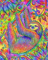 Hanging Around - Psychedelic Sloth