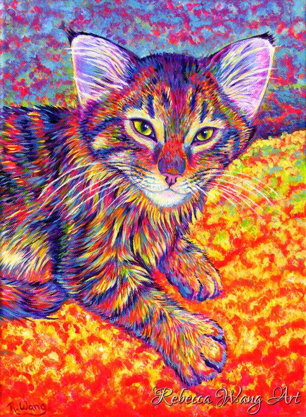 Colorful Pet Portrait - Finnegan