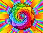 Healing Lotus Rainbow Yin Yang Mandala