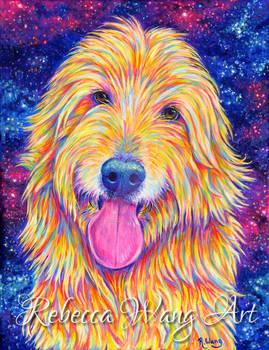 Colorful Pet Portrait - Buddy the Goldendoodle