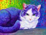 Colorful Pet Portrait - Scooter