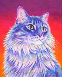 Colorful Cat Portrait - Averie