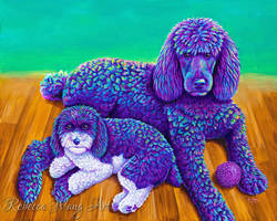 Kujo and Ringo Colorful Pet Portrait