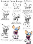How to Draw Rouge Full Body