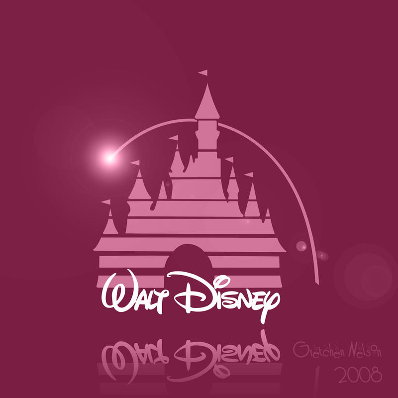 Disney Logo - Pink by NoxieArt on DeviantArt