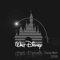Disney Logo - Black and White by NoxieArt