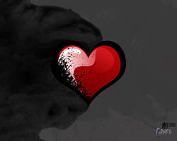 Grungy Heart by NoxieArt