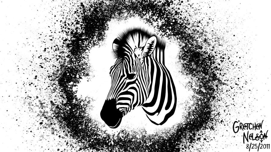 Vector Zebra by NoxieArt