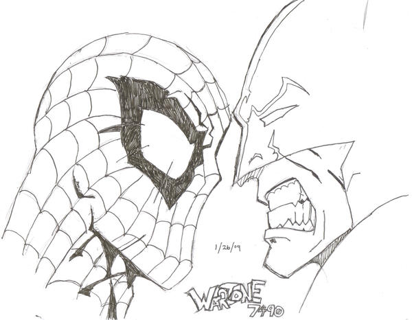 Spiderman Vs. Batman by Warzone7490 on DeviantArt