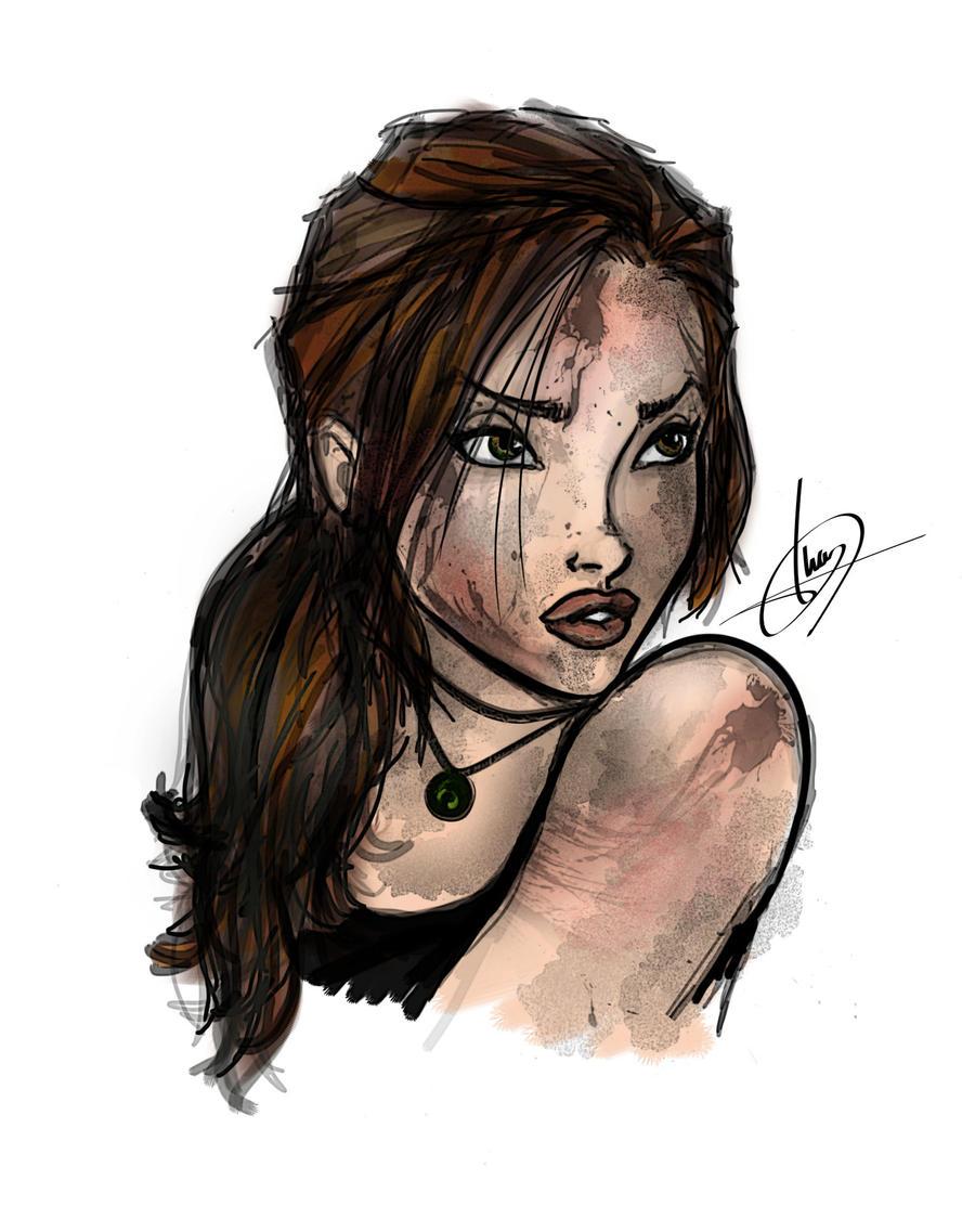 Lara Croft Portrait 2 by iviglesias