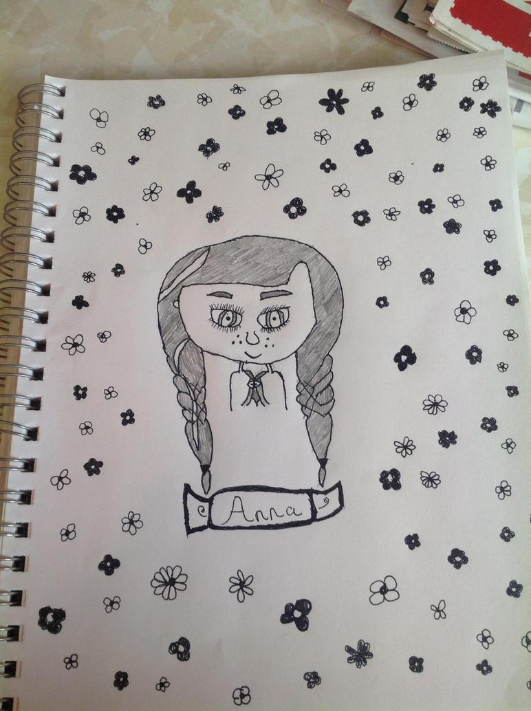 Anna from Frozen by puppydog83