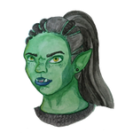 Ogra - Half Orc Cleric by Naither