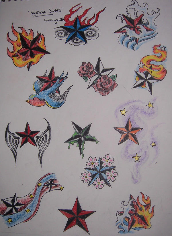 Nautical star flash by therenegadeartist on deviantart for Nautical star tattoo design