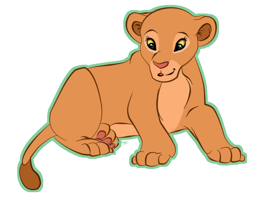 The lion king baby simba drawing