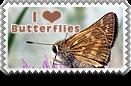 I Heart Butterflies Stamp by barefootphotos