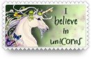 Believe in Unicorns Stamp by barefootphotos