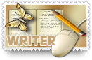 Writer v2 Stamp by barefootphotos