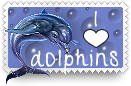 I Heart Dolphins Stamp by barefootphotos