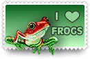 I Heart Frogs Stamp by barefootphotos