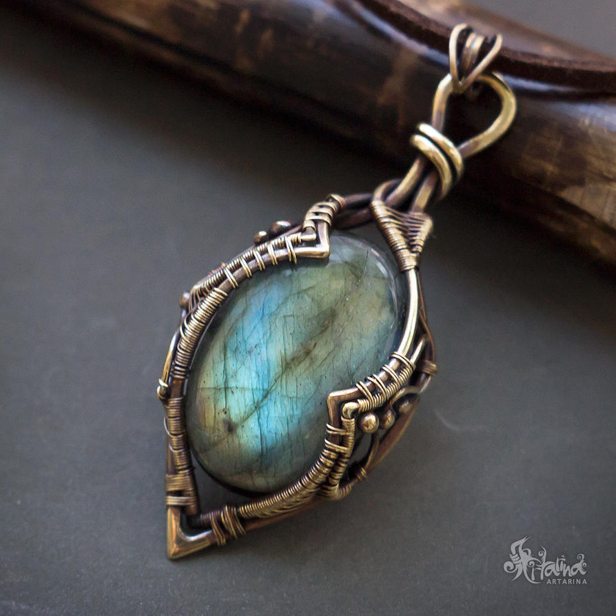 rainbow large labradorite light gifts dream connection blue pendant product