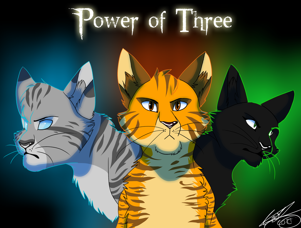 Power of three by wolfjesyo on deviantart The three cats