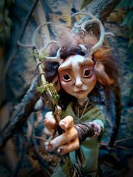 SOLD: Ephea - Ooak Kirin Fae Poseable Art Doll by FaunleyFae