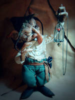 SOLD: Terry -OOAK Goblin Fae Posable Art Doll