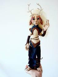 SOLD: Kirin Fae Poseable Art Doll by FaunleyFae