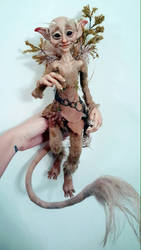 SOLD: Woodland Faun Poseable Art Doll