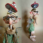 SOLD: OOAK Mushroom Collector Faerie Art Doll