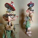 SOLD: OOAK Mushroom Collector Faerie Art Doll by FaunleyFae