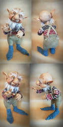 SOLD Hodwin the Gnome by FaunleyFae