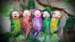 Faerie silk moth cocoon babies