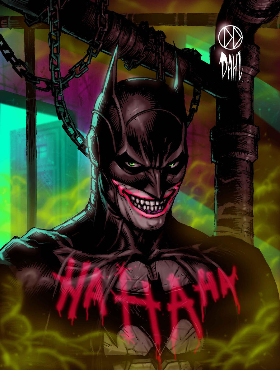 Jokerfied Batman by DanielDahl