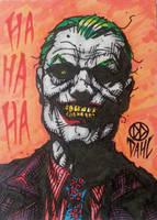 Joker Sketch Card by DanielDahl