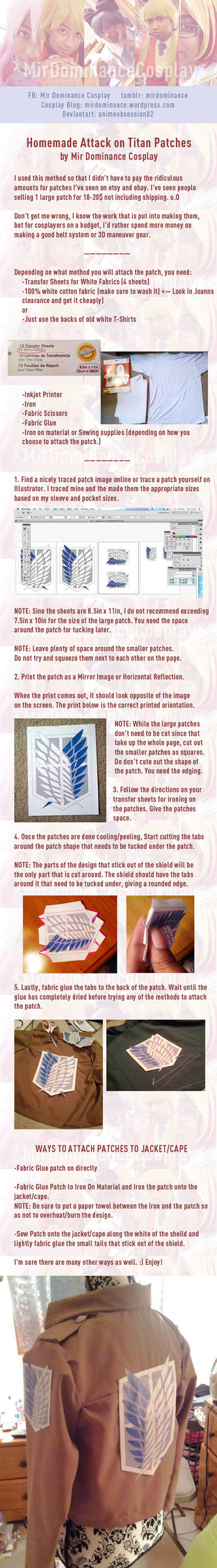 Attack on Titan: Home Made Patches Tutorial