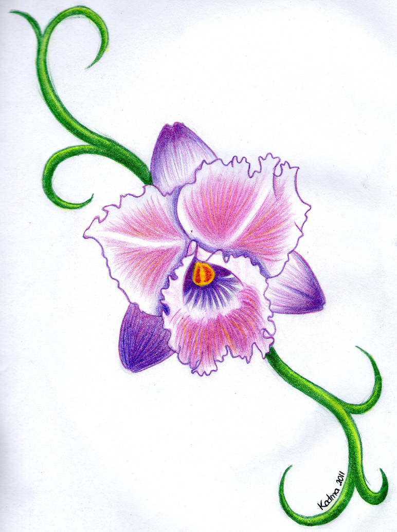 Orchid Tattoo Design By Kad Ma On Deviantart