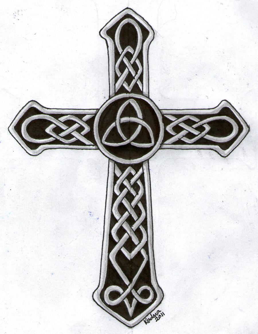 celtic cross tattoo design by kad ma on deviantart. Black Bedroom Furniture Sets. Home Design Ideas