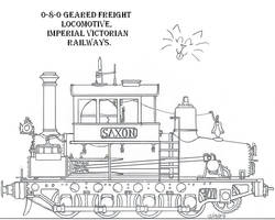0-8-0 geared freigh loco