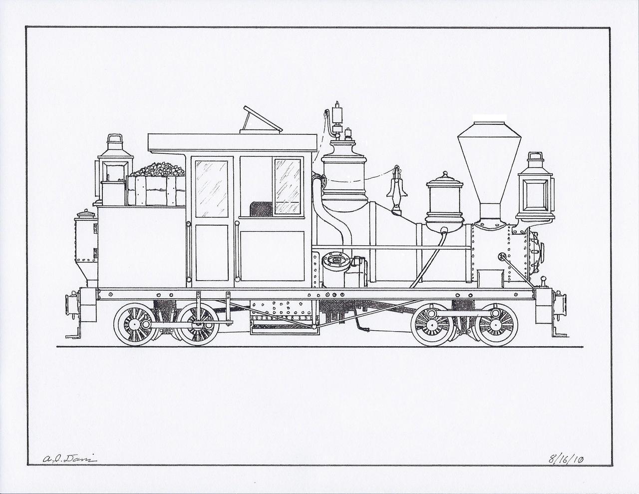 Btmt Heisler Locomotive 175513029: Big Block Engine Silhouette At Ariaseda.org