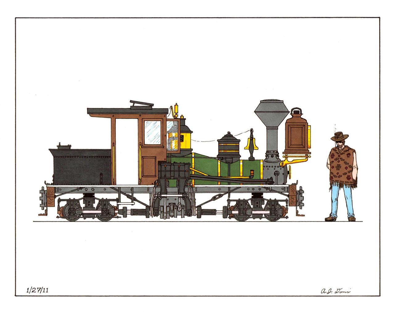 20 inch gauge Shay of the Ocalla Tramway by gunslinger87