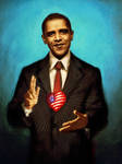 The Sacred Heart of Obama by mollygrue