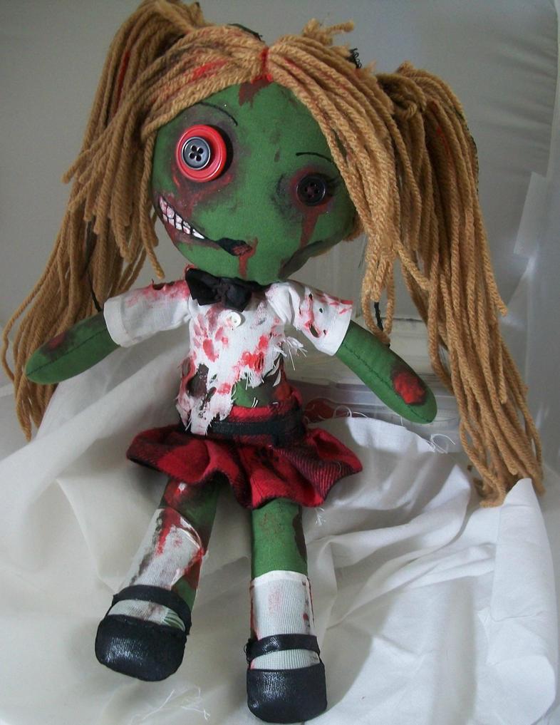 Custom Zombie School Girl by dollmaker88